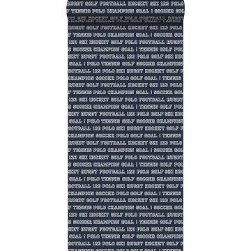 carta da parati tutti gli sport blu navy