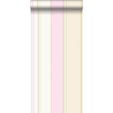 carta da parati strisce rosa tenue