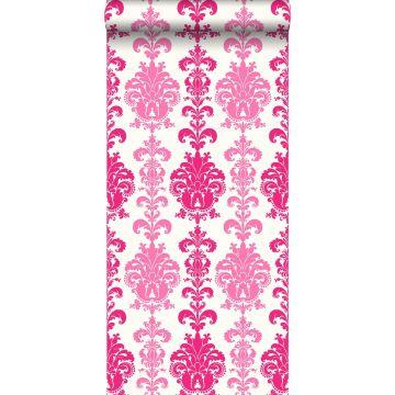 carta da parati barocco rosa