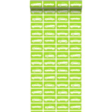 carta da parati macchine verde limetta