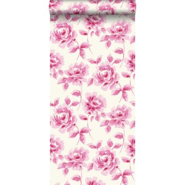 carta da parati rose dipinti ad acquerello rosa