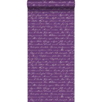 carta da parati nomi dei fiori in latino scritti a mano viola scuro
