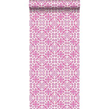 carta da parati piastrelle spiovente rosa