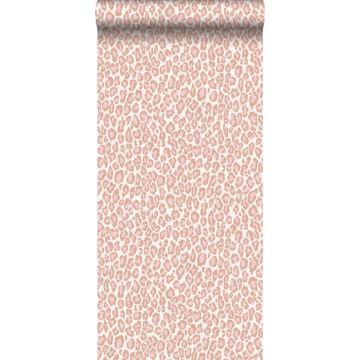 carta da parati pelle di leopardo rosa pesca