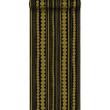 carta da parati perline nero e oro lucido chiaro