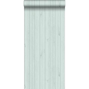 carta da parati tavole strette di legno di recupero retrò vintage verde menta pastello chiaro grigiastro