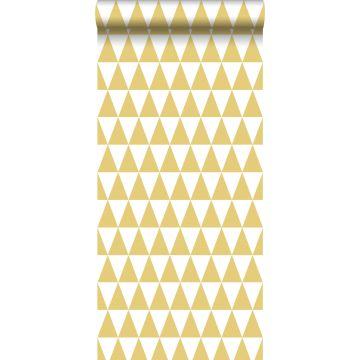 carta da parati triangoli grafici giallo ocra