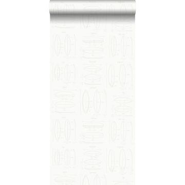 carta da parati disegni tecnici di tavole da surf bianco e argento