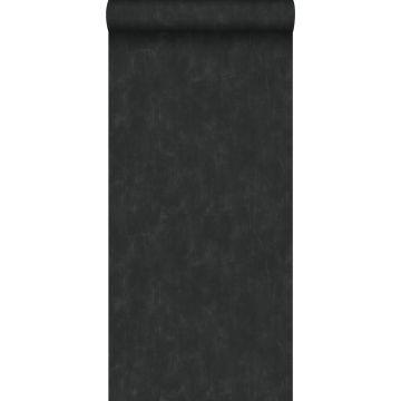 carta da parati liscia con effetto pittorica nero