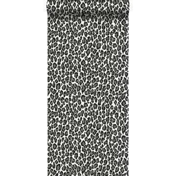 carta da parati pantera nero e bianco