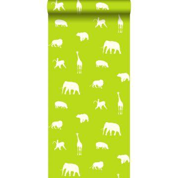 carta da parati animali verde limetta