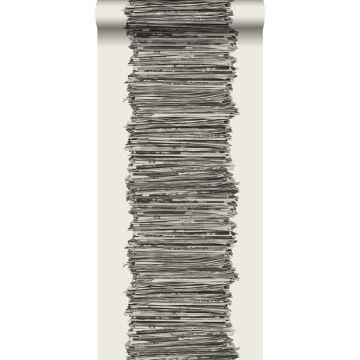 carta da parati quotidiani nero e bianco