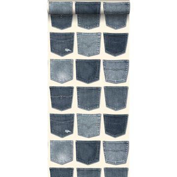 carta da parati tasche dei jeans blu chiaro