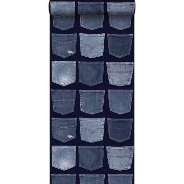 carta da parati tasche dei jeans blu