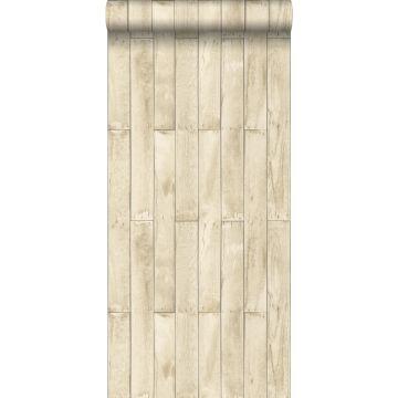 carta da parati legno beige