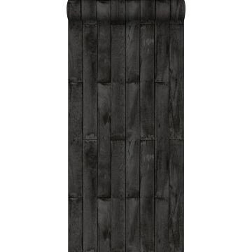 carta da parati legno nero