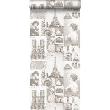 carta da parati Parigi beige
