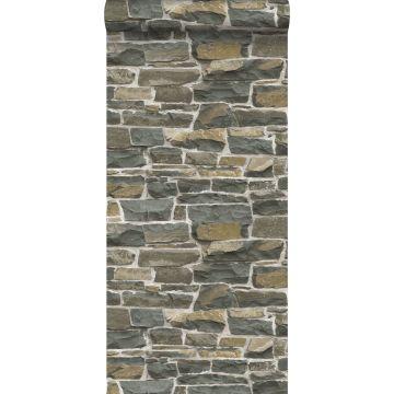 carta da parati muro di mattoni marrone