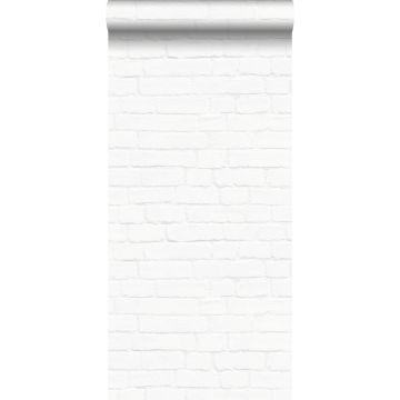 carta da parati muro di mattoni bianco