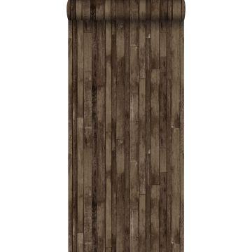 carta da parati legno di scarto marrone scuro