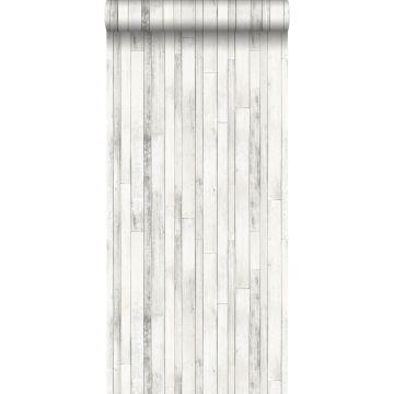 carta da parati legno di scarto bianco antico
