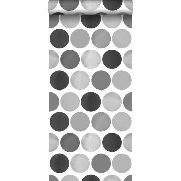 carta da parati grandi punti grigio scuro