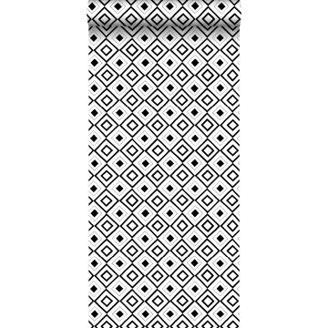carta da parati rombo nero e bianco