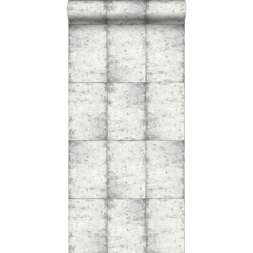 carta da parati lamiere zincate grigio caldo chiaro
