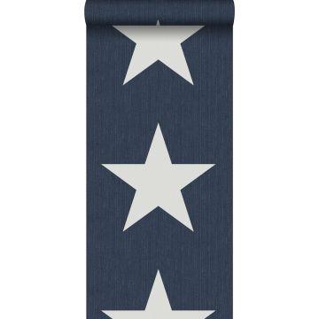 carta da parati stelle su tessuto jeans denim blu scuro