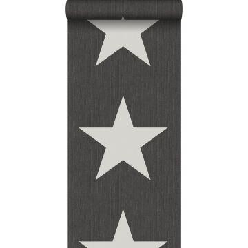 carta da parati stelle su tessuto jeans denim grigio scuro