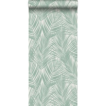 carta da parati foglie di palma verde menta