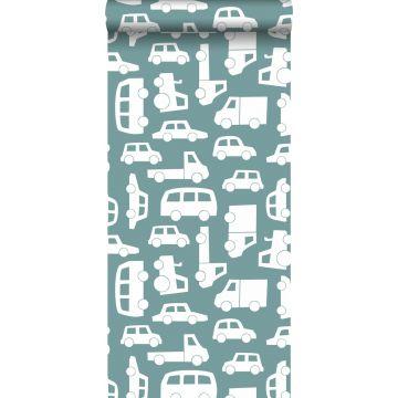 carta da parati macchine blu grigrio