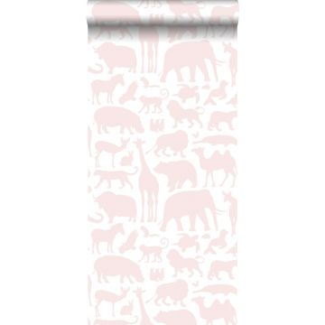 carta da parati animali rosa tenue