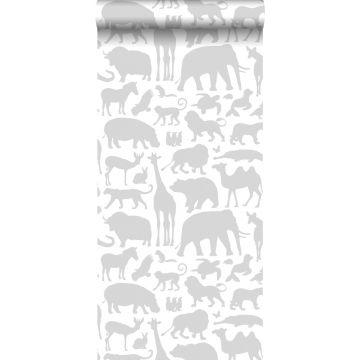 carta da parati animali grigio