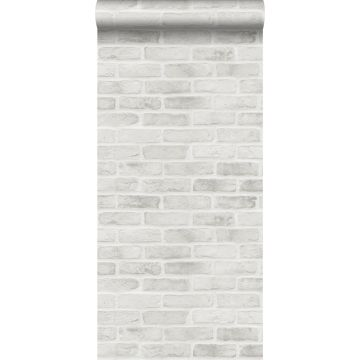carta da parati muro di mattoni grigio