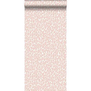 carta da parati pelle di leopardo rosa tenue