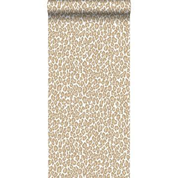 carta da parati pelle di leopardo marrone cervine