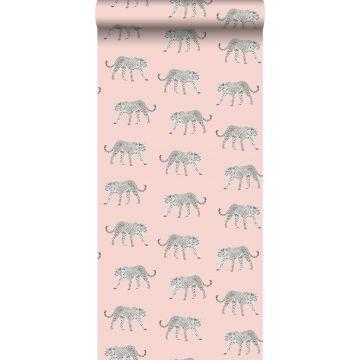 carta da parati pantera rosa tenue