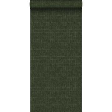 carta da parati pelle di coccodrillo verde oliva grigiastro