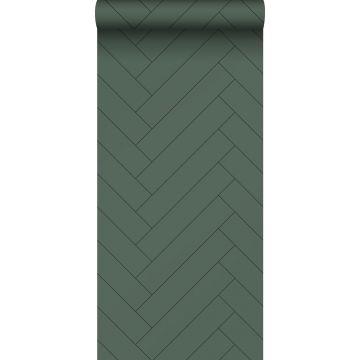 carta da parati spina di pesce verde scuro