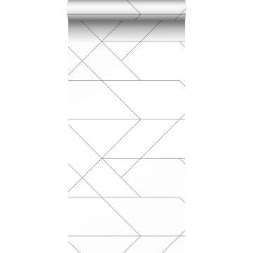 carta da parati linee grafiche bianco e nero