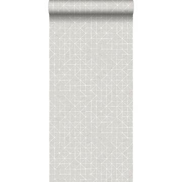 carta da parati forme geometriche grigio talpa