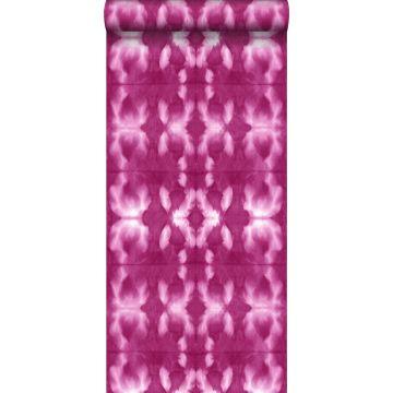 carta da parati disegno shibori tie-dye rosa fucsia intenso
