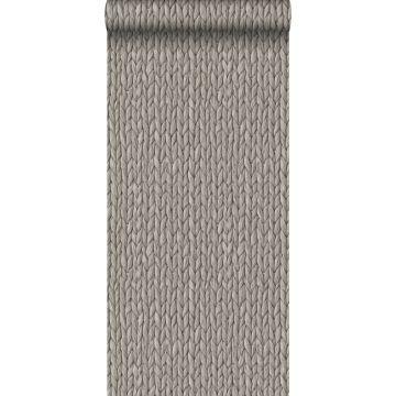 carta da parati vimini canna intrecciata grigio caldo grigiastro