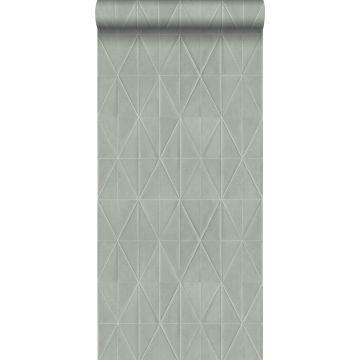carta da parati tessuto non tessuto struttura eco motivo origami grigio chiaro