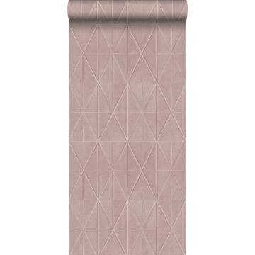 carta da parati tessuto non tessuto struttura eco motivo origami rosa salmone