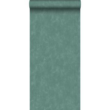 carta da parati liscia con effetto pittorica blu petrolio