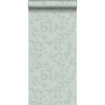 carta da parati piccole foglie verde celadon