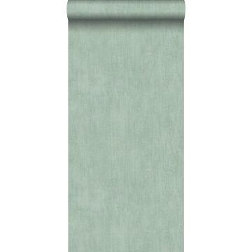 carta da parati liscia con effetto pittorica verde celadon