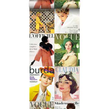 carta da parati XXL in TNT copertine di riviste multicolore